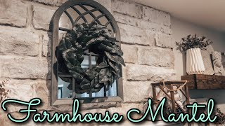 How To Decorate A Farmhouse Mantel On A Budget || Small Space Fall Decor