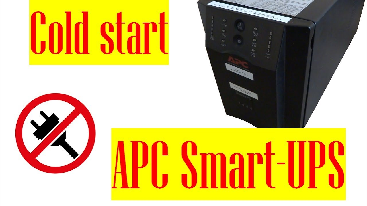 How to cold start a APC Smart-UPS (switching on without power)