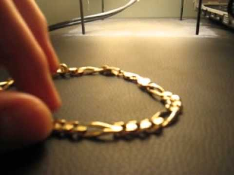 562337316138 14 quilates oro cadena de canada (gran precio)   14 k gold bracelet (great  deal) - YouTube