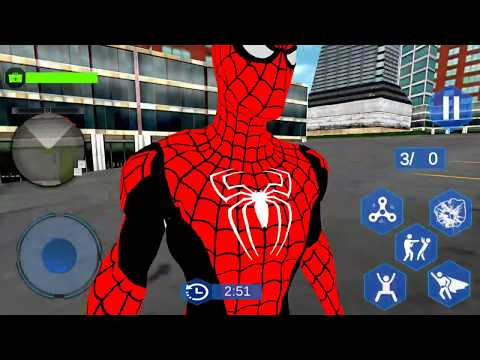 New Flying Spider Superhero City Battle   Flying Hero Vs City Gangster   Android GamePlay