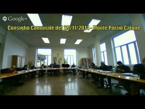 Consiglio Comunale 29/11/2014 - Monte Porzio Catone