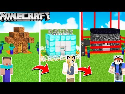 BAZA VS ZOMBIE OD NOOB DO PRO W MINECRAFT! | Vito vs Bella thumbnail