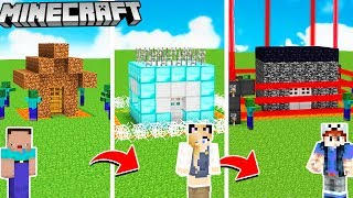 BAZA VS ZOMBIE OD NOOB DO PRO W MINECRAFT! | Vito vs Bella