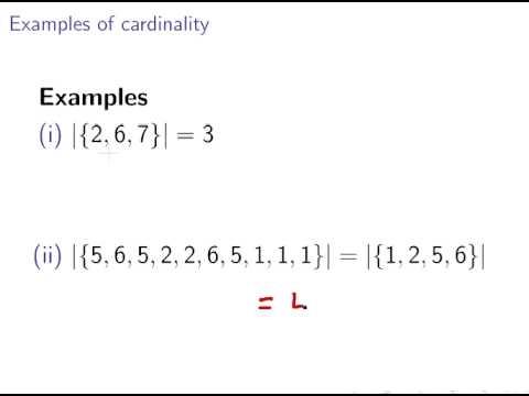Cardinality of Sets (Discrete Maths : Set Theory)