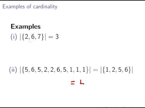 Cardinality Of Sets Discrete Maths Set Theory Youtube
