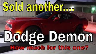 Sold another Dodge Demon