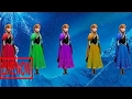 Disney Frozen Anna Finger Family Nursery Rhymes Songs - Princess Anna Learning Colors for Chil #KAH