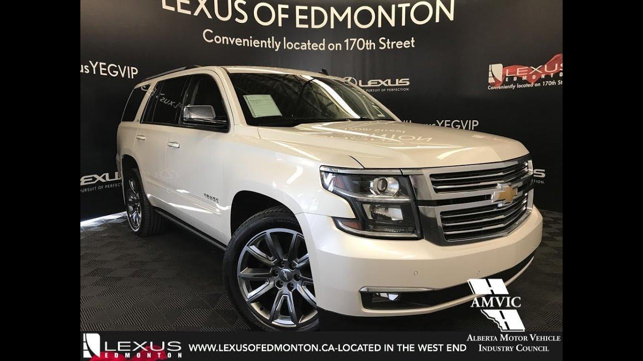 Used White 2017 Chevrolet Tahoe Ltz Walkaround Review West Edmonton Alberta