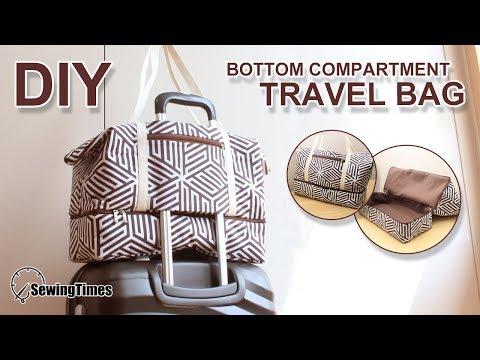 DIY Large Travel Bag 빅사이즈 여행가방 | How to make a luggage - bottom department | ハンドメイド #sewingtimes