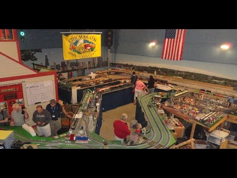 Chicagoland Lionel Railroad Club has Large Hugh O Gauge Scale Model RR Train Track Layout !