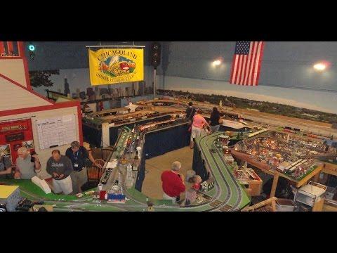 Chicagoland Lionel Railroad Club has Large Hugh O Gauge Scale Model RR Train Track Layout !
