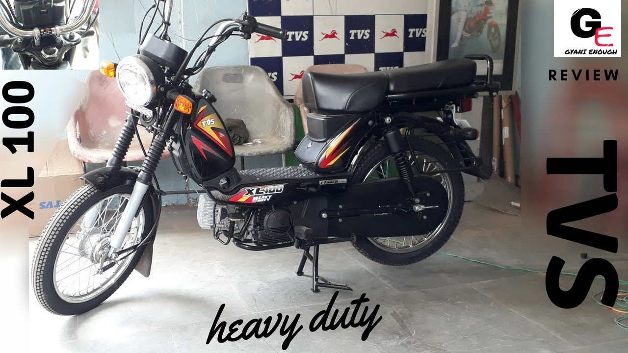 2018 Tvs Xl 100 With Self Start Usb Charger Led Drl Detailed