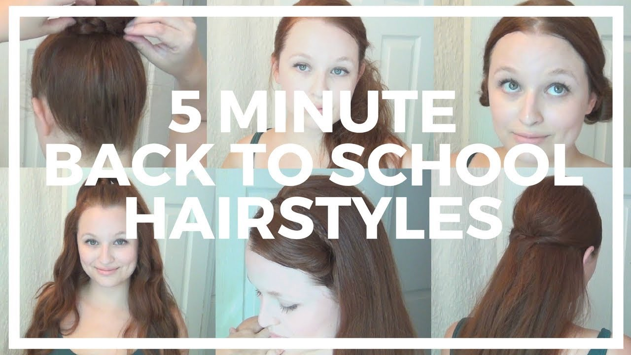 Hairstyles For Short Hair Under 5 Minutes: 5 Minute Back To School Hairstyles For Long Hair ♥ With