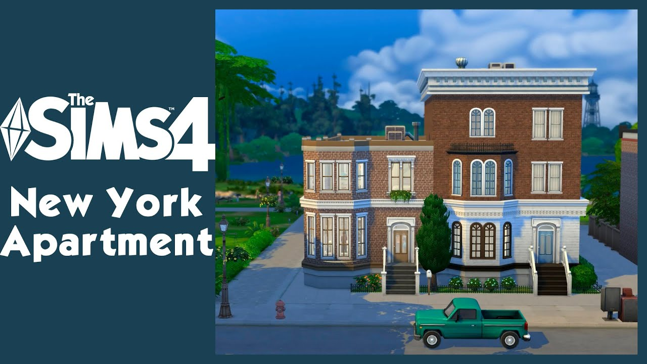 The sims 4 new york apartment simvalera youtube for Sims 4 balcony