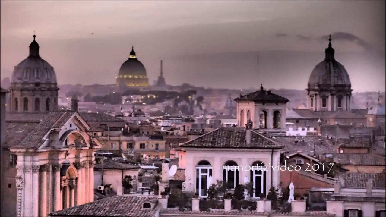 Roma dalla Terrazza Caffarelli (manortiz) - YouTube