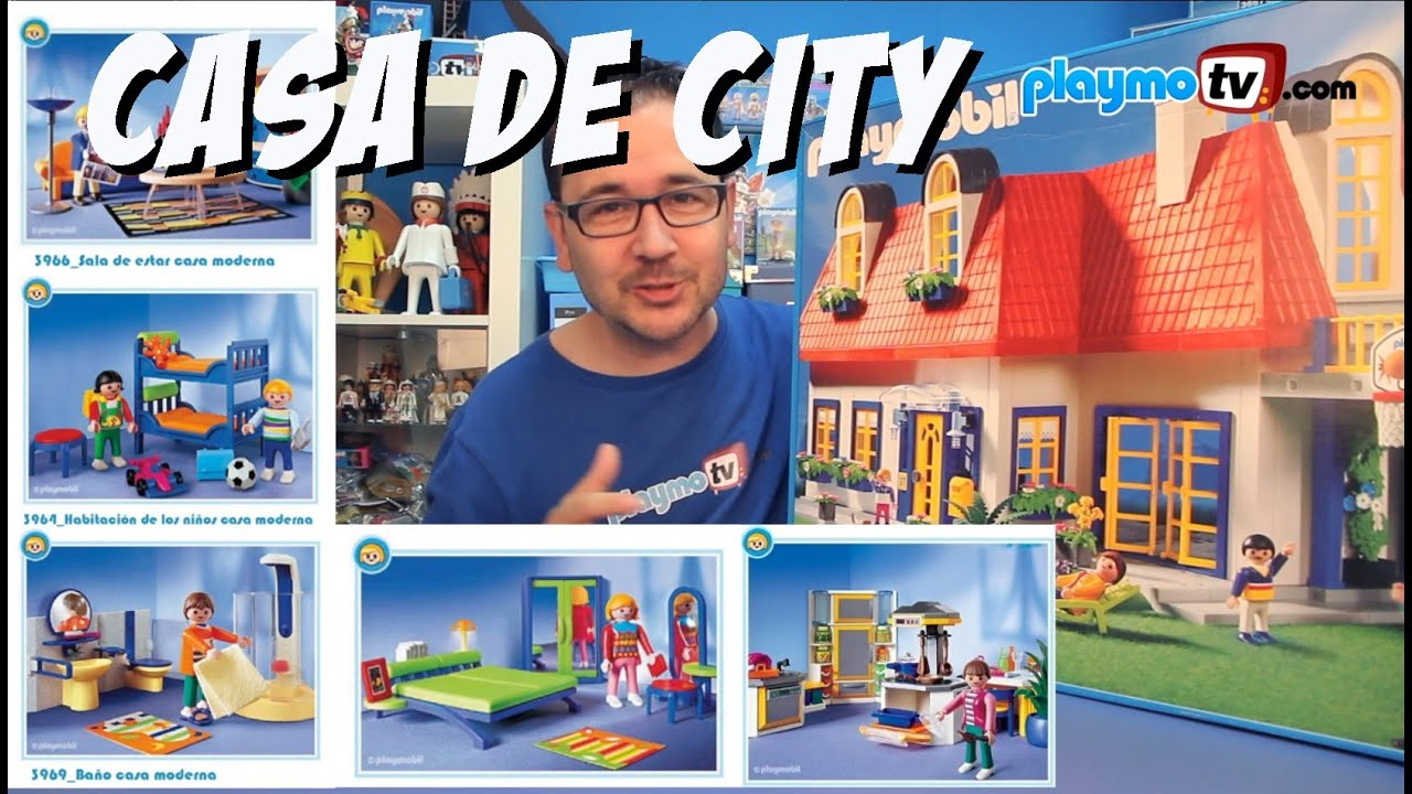 Casa de playmobil y todas sus habitaciones youtube for Playmobil casa de lujo