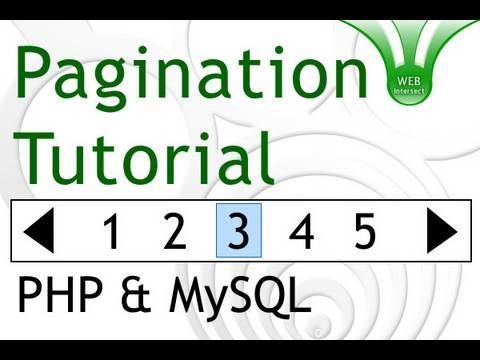 Pagination Tutorial for PHP MySQL Programmers - Web Intersect Paging Database Results
