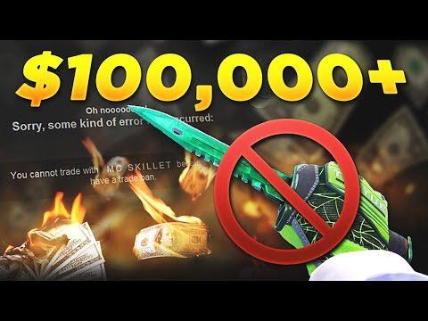CS:GO - McSkillet TRADE BANNED! ($100,000+ LOST)