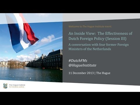 Inside View:  A Conversation with former Foreign Ministers of the Netherlands