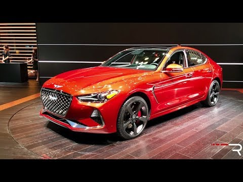 2019 Genesis G70 3.3T Redline First Look 2018 NYIAS