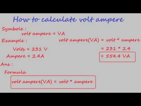 how to calculate volt ampere - electrical calculation