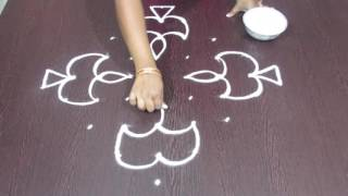Easy Rangoli Designs | with 9 to 1 dots | Simple Kolam | Latest Ragoli by Sunitha