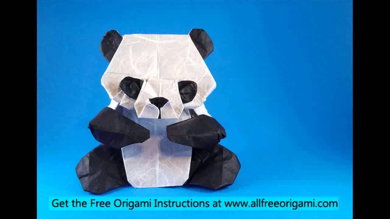 how to make an origami panda easy youtube