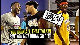 """""""U Doin All That Talkin' But U NOT DOIN SH**!"""" Trash Talker Was Talking WRECKLESS! Mic'd Up 5v5!!"""