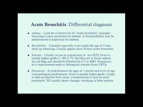 Acute Bronchitis - CRASH! Medical Review Series