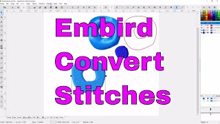 Embird Studio:How to convert embroidery fill stitches to outlines+more