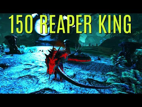 GETTING AND LEVELING A 150 REAPER KING! - Official PVP - ARK Survival