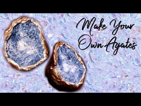 DIY Agate:  Make your own faux agate