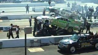 John Force v. Paul Lee NHRA @ Zmax nitro funny car 9-19-2010