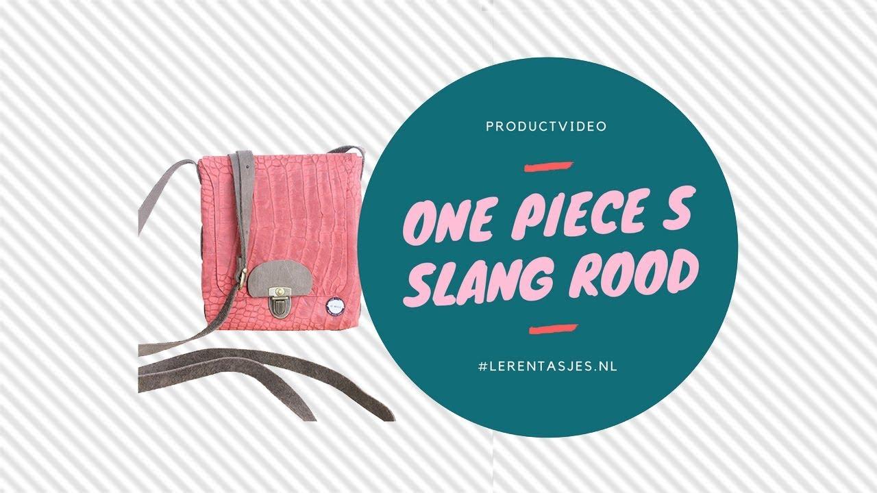 6f013b771a1 PRODUCTVIDEO | One piece S leren tasje slangenprint rood #lerentasjes.nl