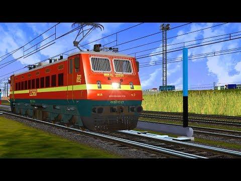 19314/Rajendranagar Terminal - Indore Express    Loco Reverse    IR In MSTS Open Rail