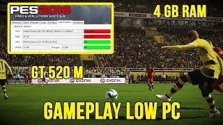 PES 2018 | DEMO GAMEPLAY LOW PC (4GB RAM + GT 520 M + DUALCORE)