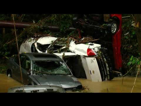 Floods cause serious damage as system pushes east