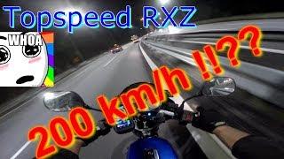 topspeed Yamaha RXZ 135 catalyzer GPS speed