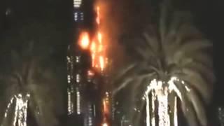Address Downtown Dubai Hotel  Fire - Dubai  New Year's Eve.