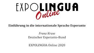Einführung in die internationale Sprache Esperanto