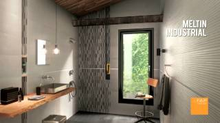 MELTIN collection FAP ceramiche Cersaie 2013 (wall tiles cement, concrete)