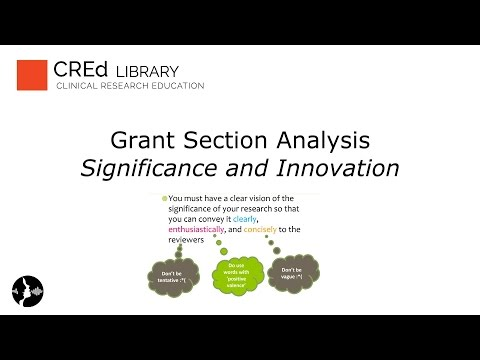 Grant Section Analysis: Significance and Innovation