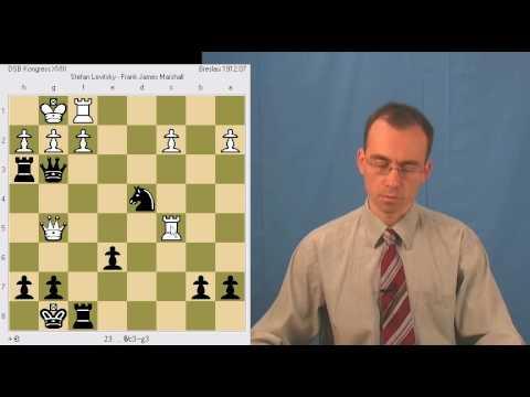 Chess Tactics: S. Levitsky - Frank Marshall (Breslau, 1912)