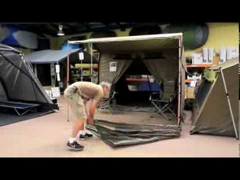 The Oztent RV-5 can be easily set up by one person in less than 30 seconds