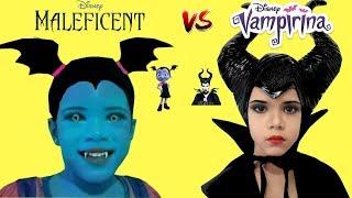 Disney Princess Junior Vampirina and Maleficent MakeUp and Dress Up