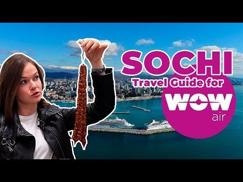 WOW air travel guide application   Sochi, Russia