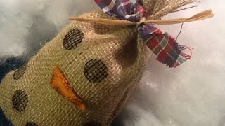 Make A Country Burlap Snowman - Diy Crafts - Guidecentral