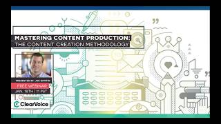 Mastering Content Production: The Content Creation Methodology
