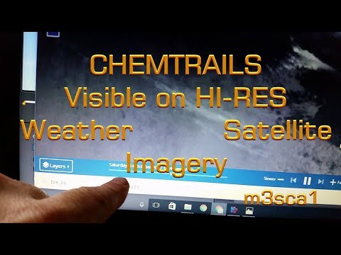 Chemtrails on Satellite Imagery
