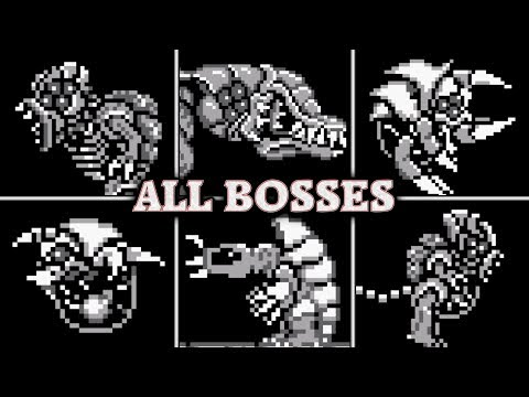 Metroid 2: Return of Samus - All Boss Fights & Best Ending (No Damage)